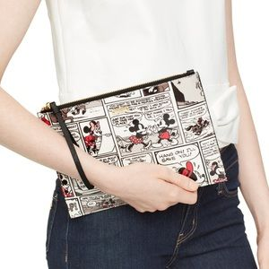 Kate Spade x Minnie Mouse Comic Clutch NWT